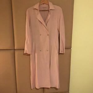 Zara Pale Pink Flowy Trench Coat